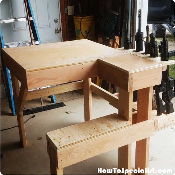 Wood Shooting Bench Howtospecialist How To Build Step
