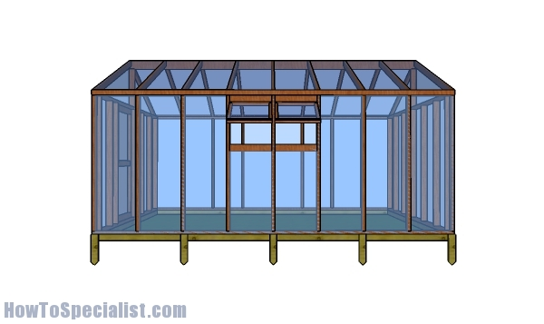 12x16 greenhouse plans - side view