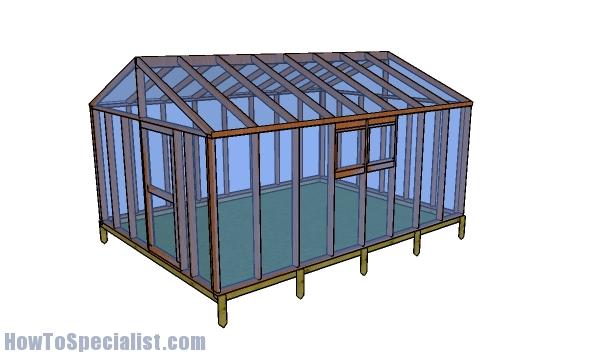 12x16 greenhouse plans