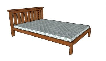 2x4 Full size Bed Plans
