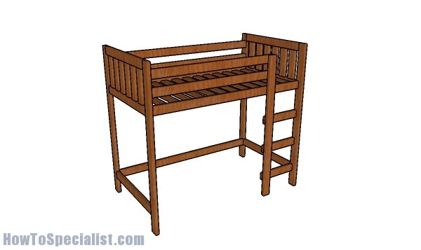 2x4 Loft Bed Plans Howtospecialist How To Build Step By Step Diy Plans