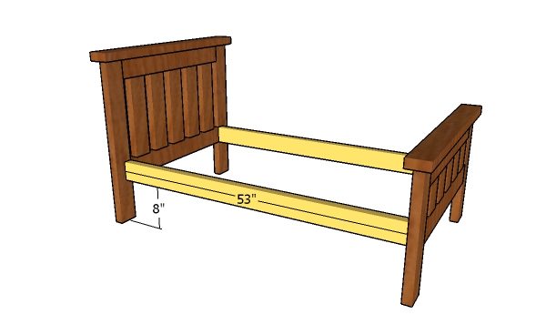 Assembling the bed frame