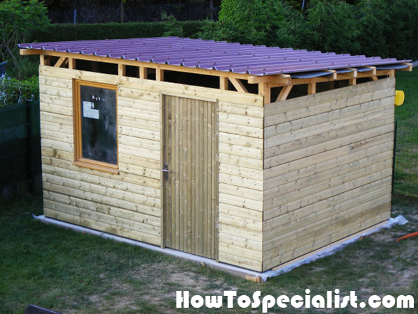 diy lean to garden shed howtospecialist how to build step by step diy plans