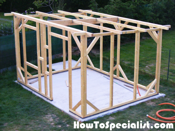 Building-the-frame-of-the-lean-to-shed