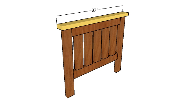 Fitting the top slat - Toddler bed headboard