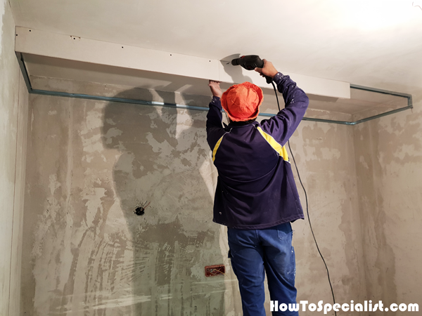Front-drywall---Ceiling-soffit-box