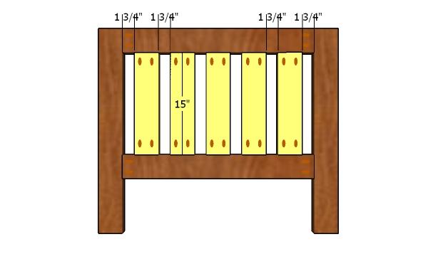 Headboard panel slats