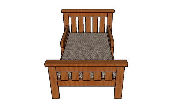 How to build a toddler bed from 2x4s