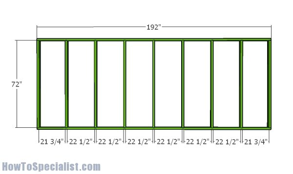 Side wall frame - 12x16 greenhouse plans