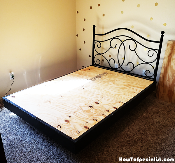 Diy Queen Size Floating Bed Howtospecialist How To