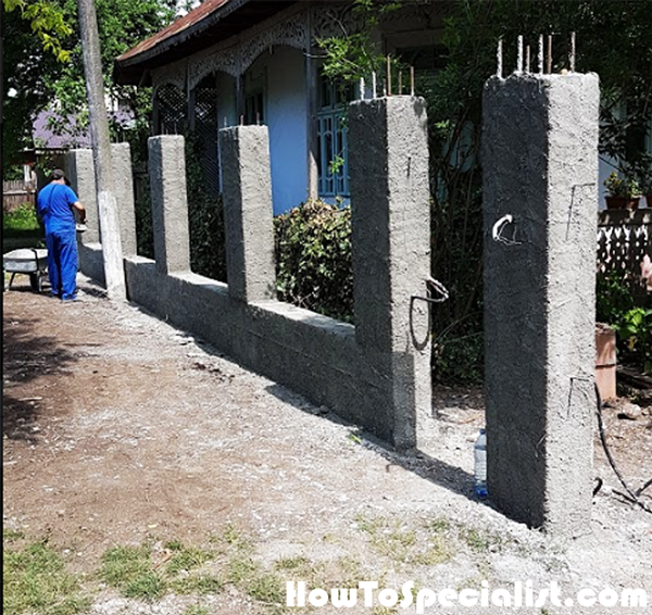 Cement-rendering-the-fence