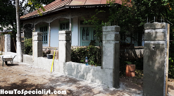 Concrete-fence---Cement-render-drying-out