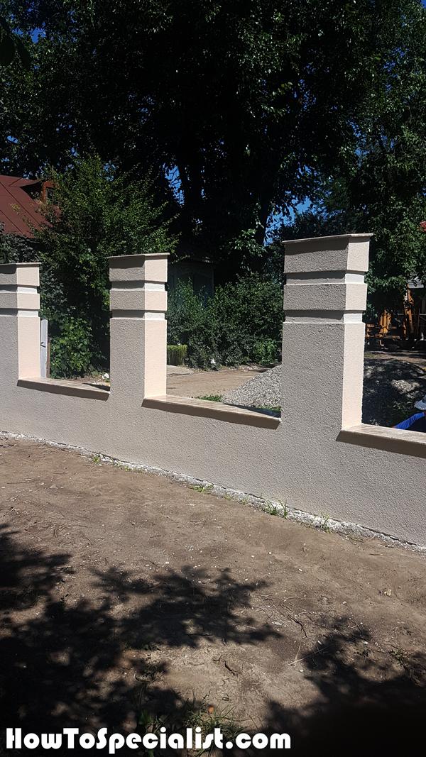 Decorative-paint---Concrete-Fence
