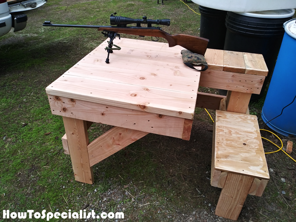 Diy Sturdy Shooting Bench Howtospecialist How To Build