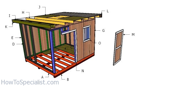 Flat Roof Plans For A 10x12 Shed Howtospecialist How To Build Step By Step Diy Plans
