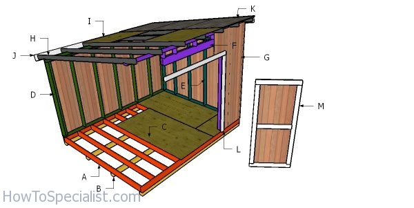10x12 Lean To Shed Free Diy Plans Howtospecialist How To