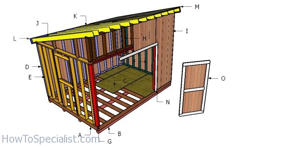 10x14 Lean To Shed Free Diy Plans Howtospecialist How To