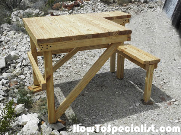 2x4 Shooting Bench Diy Project Howtospecialist How To