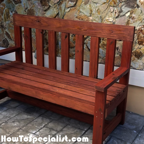 2x4 Garden Bench Diy Project Howtospecialist How To Build