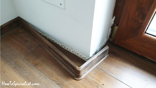 How To Install Baseboard With Glue, Laminate Flooring Trim Glue