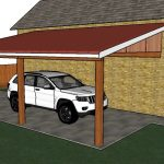 12x20 Attached Carport Plans