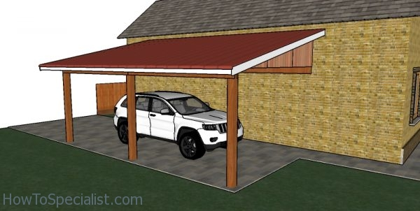 Attached Carport Free Diy Plans Howtospecialist How To Build Step By Step Diy Plans