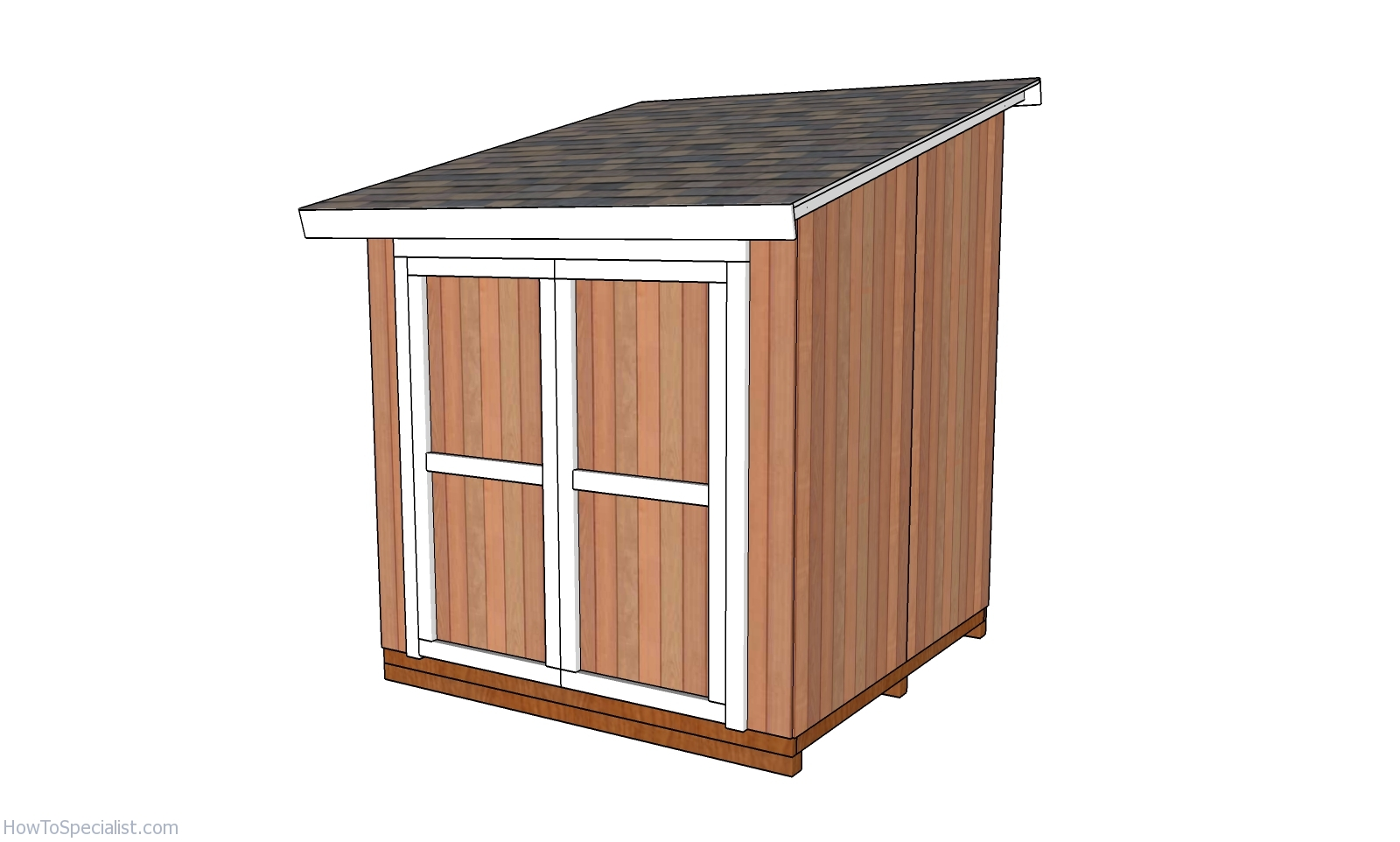 32x32 Lean to Shed - Free DIY Plans  HowToSpecialist - How to Build
