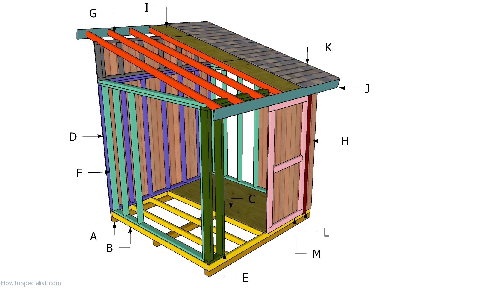 8x8 Lean To Shed Roof Plans