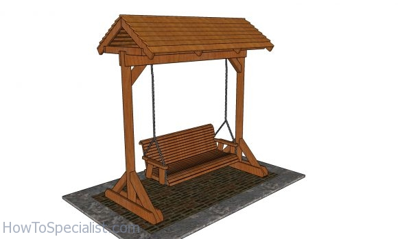 Porch Swing Frame With Roof Free Diy, How To Build A Patio Swing Frame