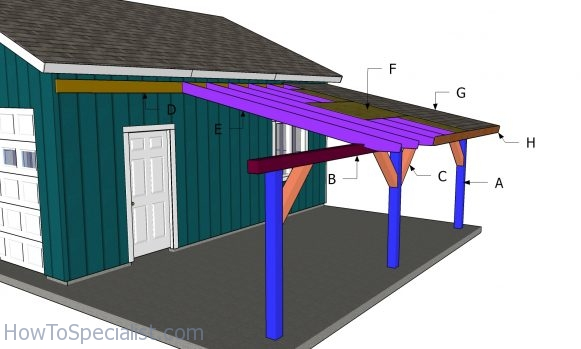 12x24 Attached Carport Free Diy Plans Howtospecialist How To Build Step By Step Diy Plans